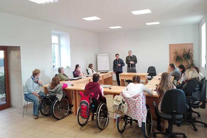 Uczestnicy podczas szkolenia w Biurze Aktywizacji Społecznej