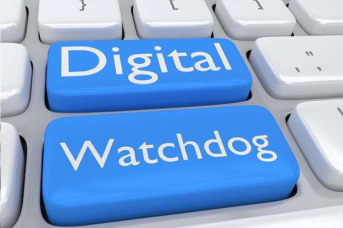 Napis Digital Watchdog na klawiaturze